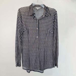 Cabi Button Down Sheer Shirt